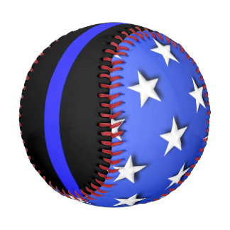 Thin Blue Line Big Stars and Stripes Baseball