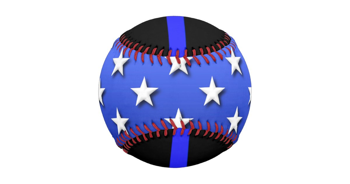 thin blue line big stars and stripes baseball zazzle. Black Bedroom Furniture Sets. Home Design Ideas