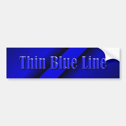 Thin Blue Line Bumper Sticker
