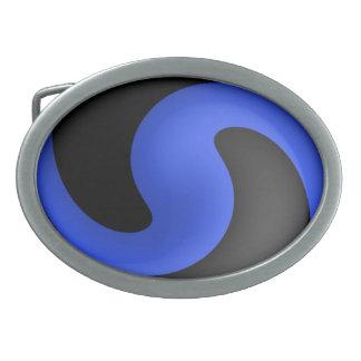 Thin Blue Line Button Belt Buckles