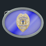 "Thin Blue Line Button Belt Buckle<br><div class=""desc"">This design is intended to honor the courageous men and women who protect our communities. This police,  sheriff and law enforcement symbol is beautiful graphic tribute to those who serve and those who have made the ultimate sacrifice.</div>"