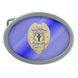 Thin Blue Line Button Oval Belt Buckles