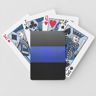 Thin Blue Line Buttons Bicycle Playing Cards