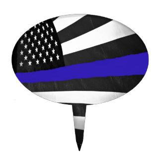 Thin Blue Line Cake Topper