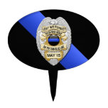 Thin Blue Line Cake Toppers