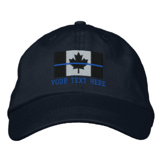 Thin Blue Line Canadian Flag Personalize it Embroidered Baseball Cap