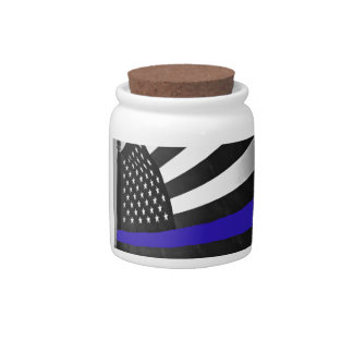 Thin Blue Line Candy Jars