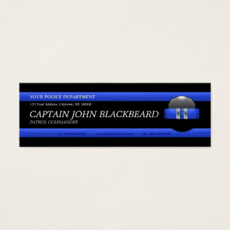 Thin Blue Line Captain Custom Business Card