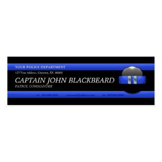 Thin Blue Line Captain Custom Business Card