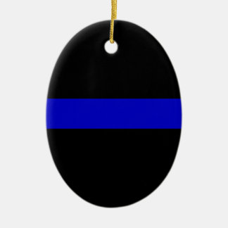 Thin Blue Line Ceramic Ornament