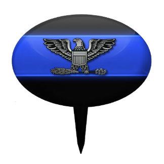 Thin Blue Line Chief Eagle Cake Topper
