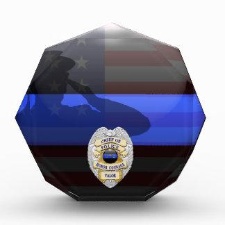 Thin Blue Line Chief of Police Silver 1-Yr Award