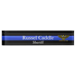 Thin Blue Line - Chief Sheriff Eagle Rank Nameplate