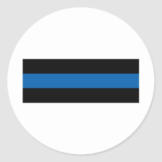 Thin Blue Line Classic Round Sticker
