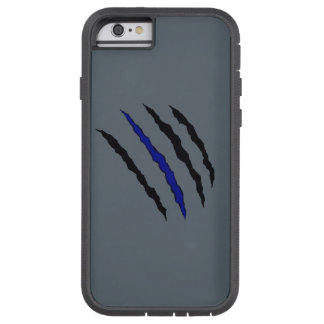 Thin Blue Line Claw Tough Xtreme iPhone 6 Case