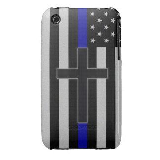 Thin Blue Line Cross iPhone 3 Case