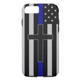 Thin Blue Line Cross iPhone 7 Case