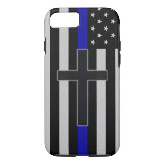 Thin Blue Line Cross iPhone 8/7 Case