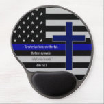 "Thin Blue Line Cross Mousepad<br><div class=""desc"">Thin Blue Line Cross Mousepad</div>"