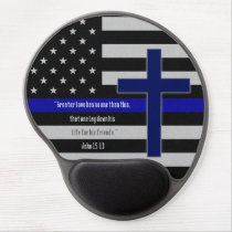 Thin Blue Line Cross Mousepad