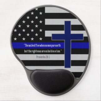 Thin Blue Line Cross Mousepad Gel Mouse Pad