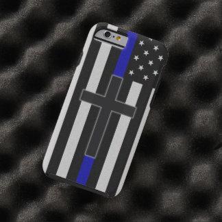 Thin Blue Line Cross Tough iPhone 6 Case