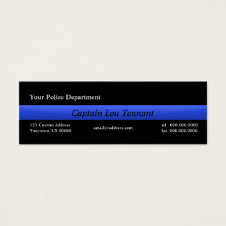 Thin Blue Line Custom Business Cards