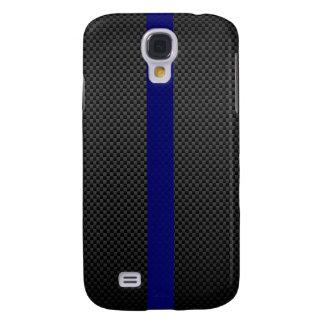 Thin Blue Line Custom Carbon Fibre Samsung Galaxy S4 Cases