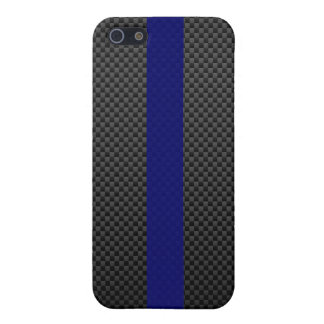 Thin Blue Line Custom Carbon Fibre Cover For iPhone SE/5/5s