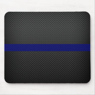 Thin Blue Line Custom Carbon Fibre Mouse Pad