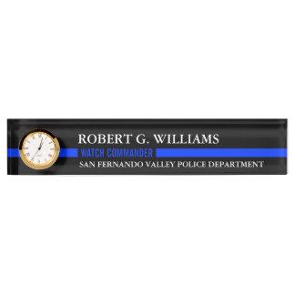 Thin Blue Line Custom Desk Nameplate