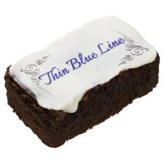 Thin Blue Line Custom Dessert Chocolate Brownie