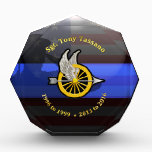"""Thin Blue Line Custom Fremont Plaque 3<br><div class=""""desc"""">This Custom Fremont Traffic Officer Plaque was an actual custom request that we created to the specifications of the customer. Although this serves as a sample we can custom design a similar plaque or award for your even too. Simple email us with your request.</div>"""