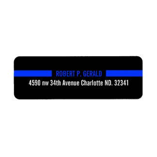 Thin Blue Line Custom Label