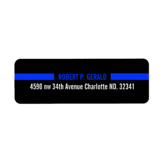 Thin Blue Line Custom Label