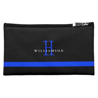 Thin Blue Line Custom Monogram Cosmetic Bag