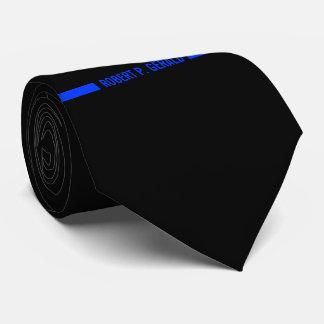 Thin Blue Line Custom Name Stripe Tie