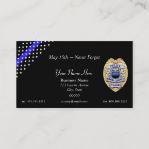 Police business cards 500 police business card templates thin blue line custom patch and badge business card colourmoves