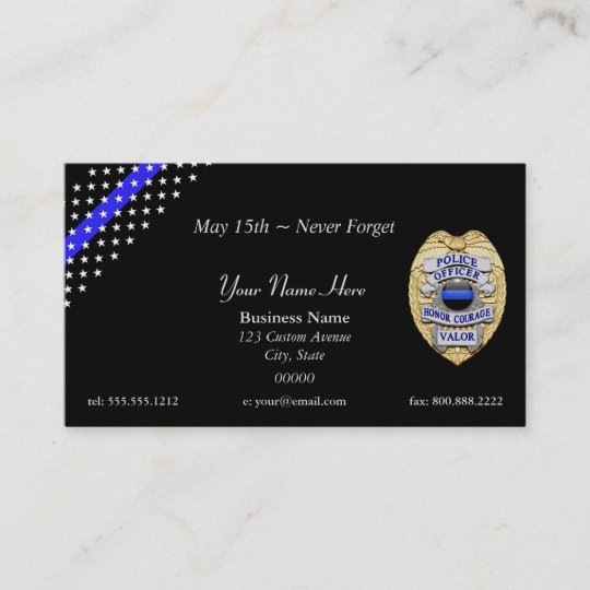 Thin blue line custom patch and badge business card zazzle thin blue line custom patch and badge business card colourmoves