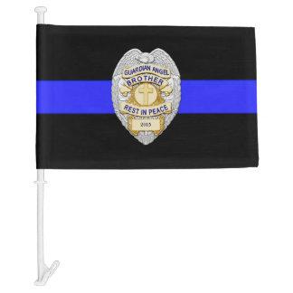 Thin Blue Line Custom Police Memorial Funeral Flag