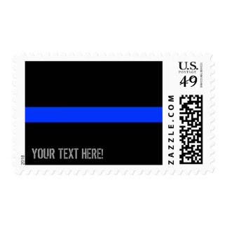 Thin Blue Line Custom Text Postage