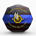 """Thin Blue Line Customizable Motor Officer Acrylic Award<br><div class=""""desc"""">Customize this beautiful gift with your own text to suit the circumstances. This original customizable Police Award Plaque badge artwork was designed specifically for law enforcement motor officers. Add your own anniversary years to the badge. It makes a wonderful gift for all of the usual gift occasions but also in...</div>"""