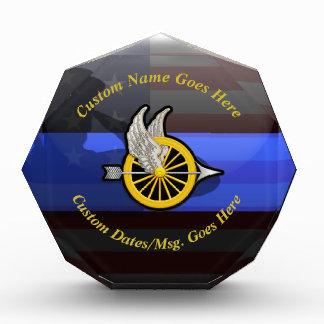 Thin Blue Line Customizable Motor Officer Acrylic Award