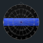 "Thin Blue Line Dartboard With Darts<br><div class=""desc"">This design is intended to honor the courageous men and women who protect our communities. This police,  sheriff and law enforcement symbol is beautiful graphic tribute to those who serve and those who have made the ultimate sacrifice.</div>"