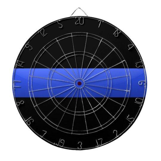 Thin Blue Line Dartboard With Darts