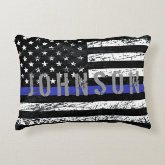 Thin Blue Line Decorative Pillow