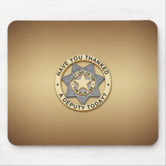Thin Blue Line Deputy Badge Mouse Pad
