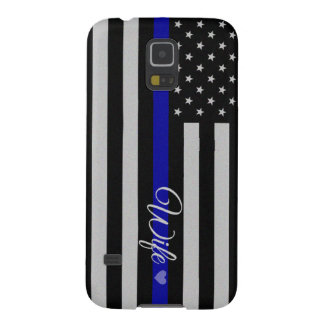 Thin Blue Line Design Case For Galaxy S5