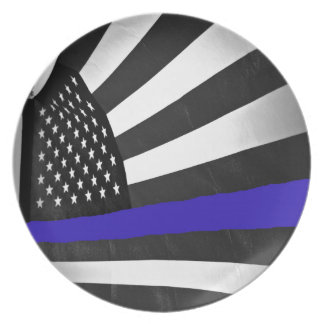 Thin Blue Line Dinner Plate