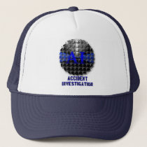Thin Blue Line Div Symbol - Accident Investigatiom Trucker Hat